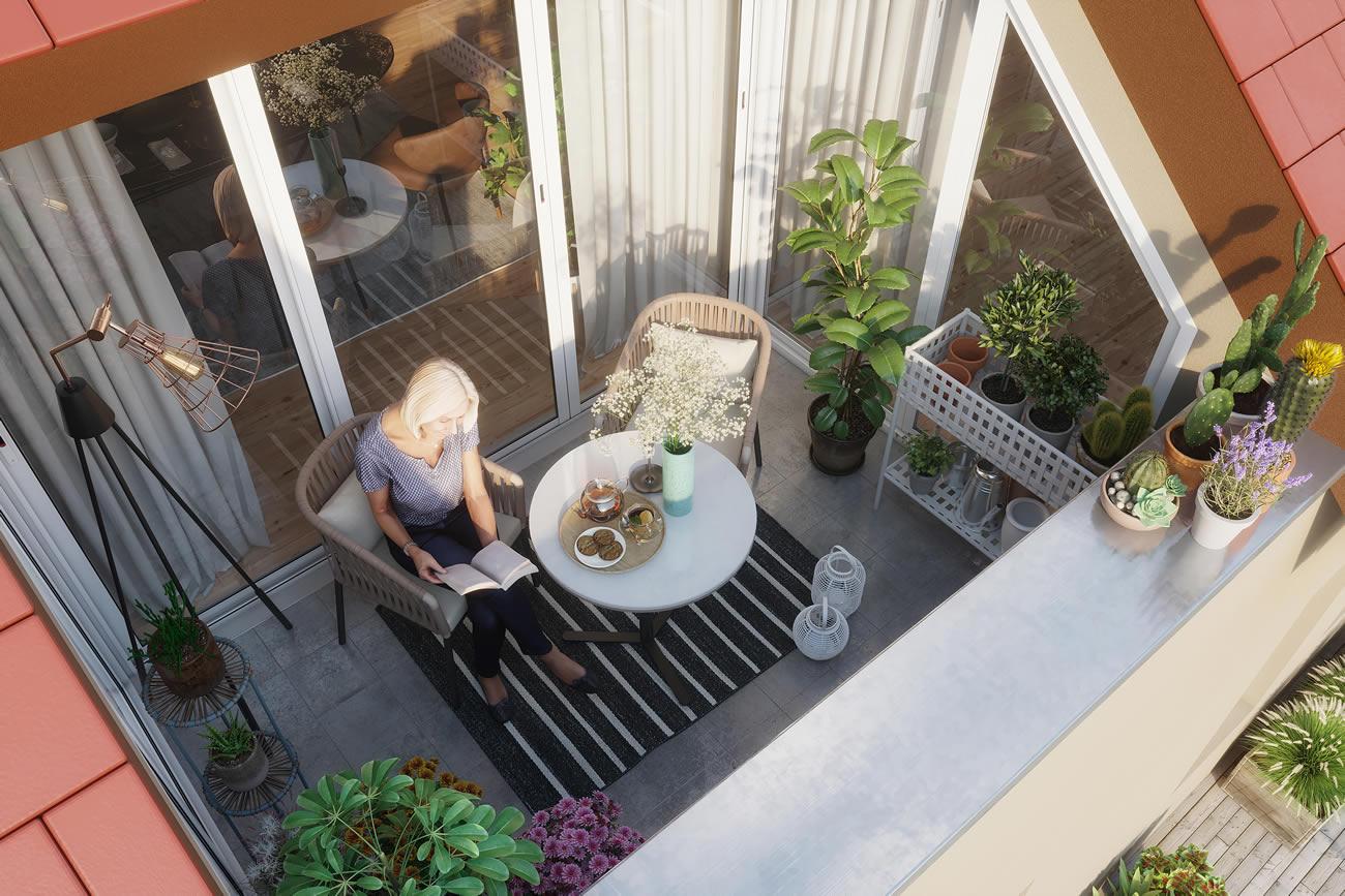 Logia | Innenaussicht | Gutshof-Living-Jena