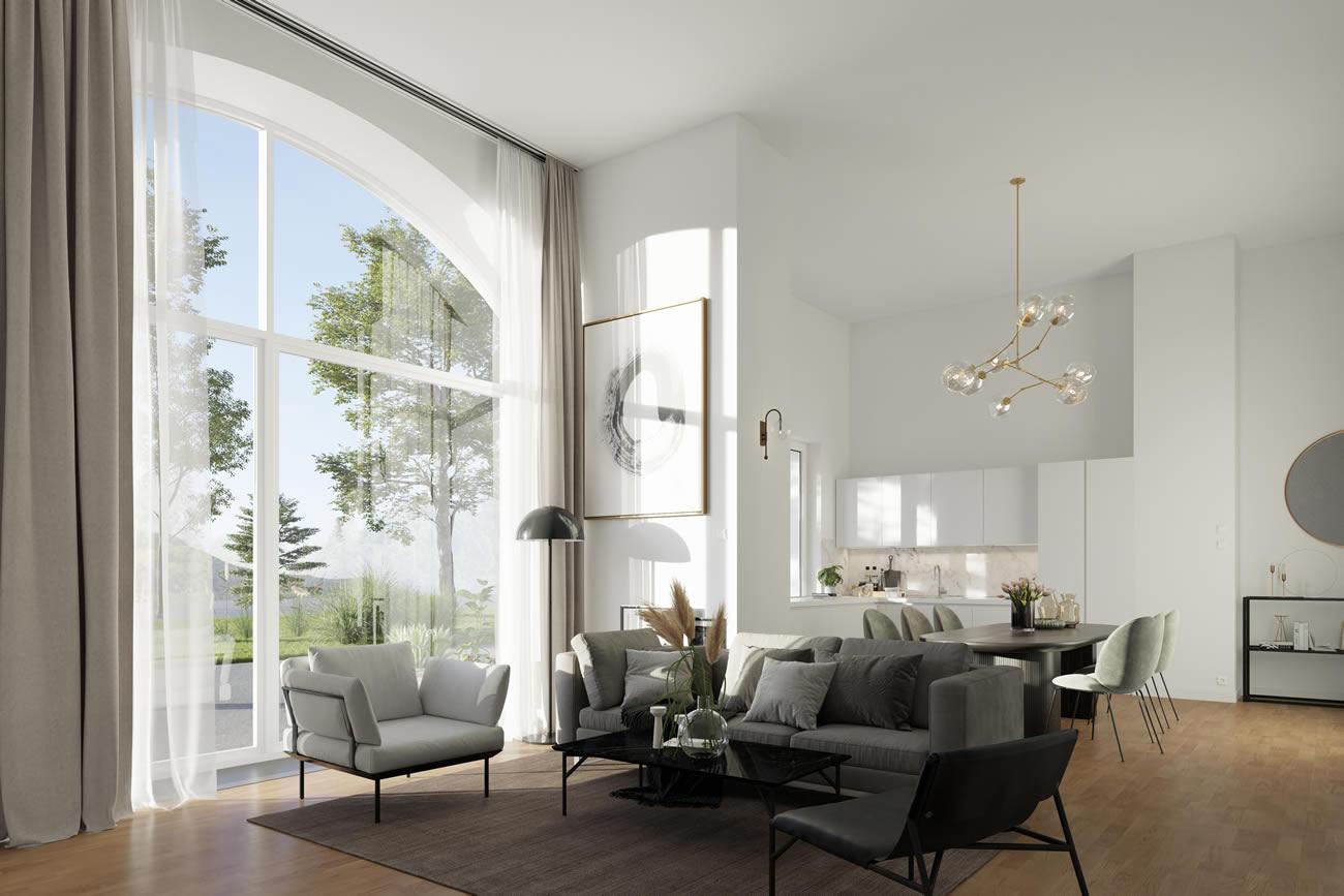 Wohnzimmer | Innenaussicht | Gutshof-Living-Jena
